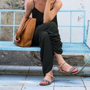 Anthropologie Duex Mains  Leather Tan Sandals